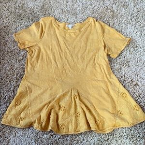 Anthropologie mustard/yellow shirt